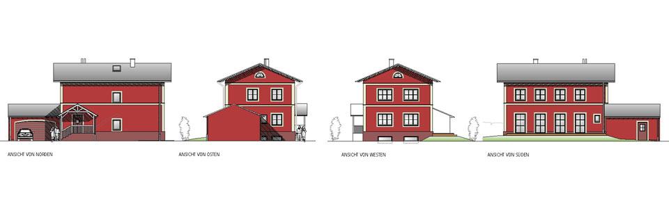 Eingabeplan Einfamilienhaus München-Lochhausen