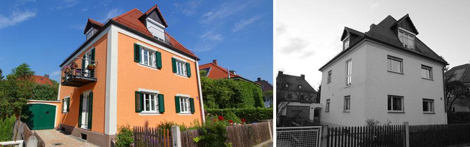 Vor und nach der Sanierung