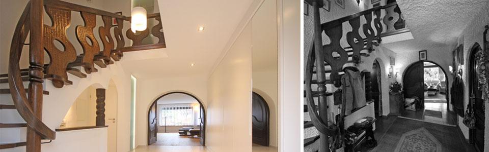 Treppenhaus vorher und nachher