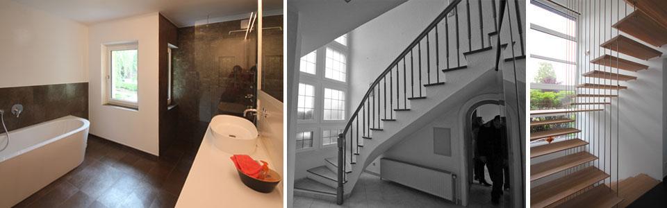 Treppe vorher und nachher