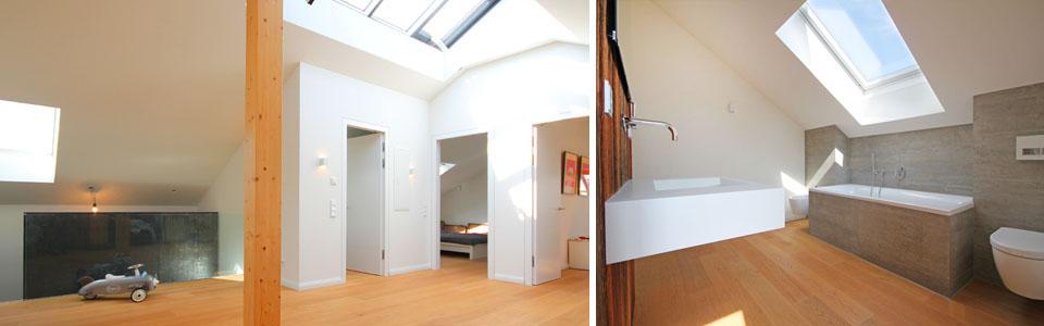 Dachgeschoss mit Bad