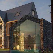 Neubau einer Villa mit Schwimmbad in Grünwald